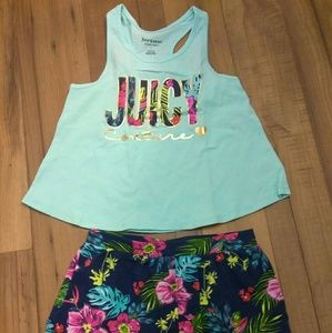 Juicy Couture 2 Tanks and Short Set